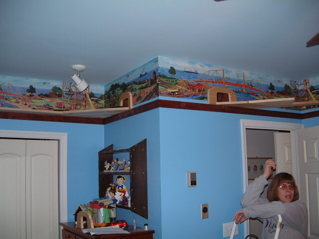 Bedroom Train Shelf